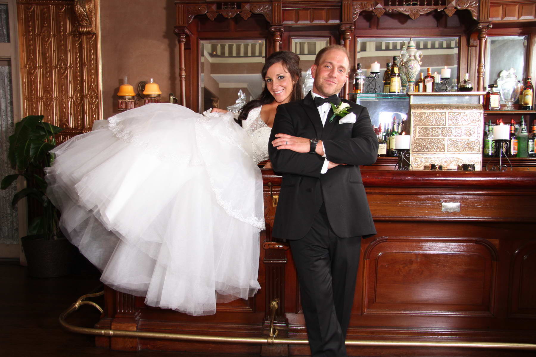 Newlyweds at Bar,Davids Country Inn